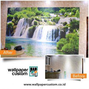 Dinding Terhiasi Wallpaper Murah
